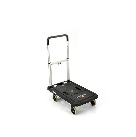 Why are hand trolleys an easier option to carry items in your work place?