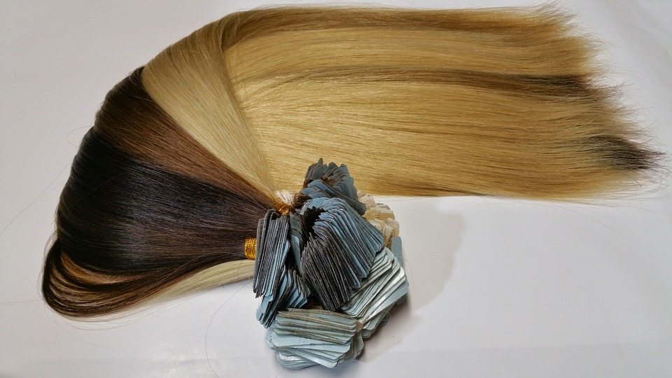 Synthetic fiber hair extensions
