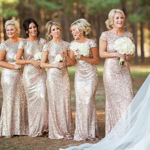Reasons to Glam up in Gold Sequins Bridesmaid Dresses and Add Sparkle at any Event