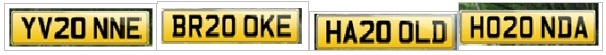 Registration Plate Combinations