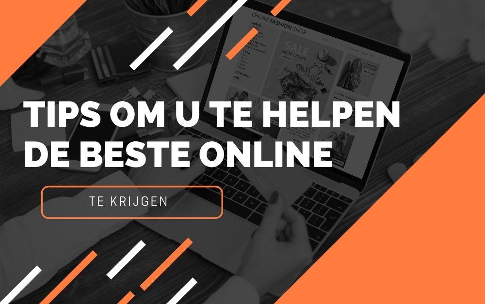Tips om u te helpen de beste online deals te krijgen