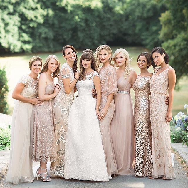 Find the Perfect Way to Flaunt Gold Bridesmaid Dresses