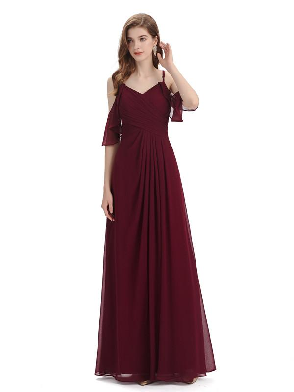 Check Out These Burgundy Long Bridesmaid Dresses